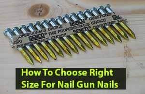 nail gun nails sizes